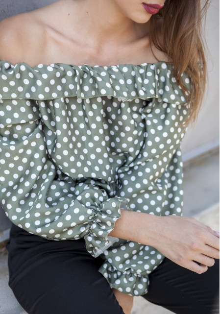 Crop top polka dots