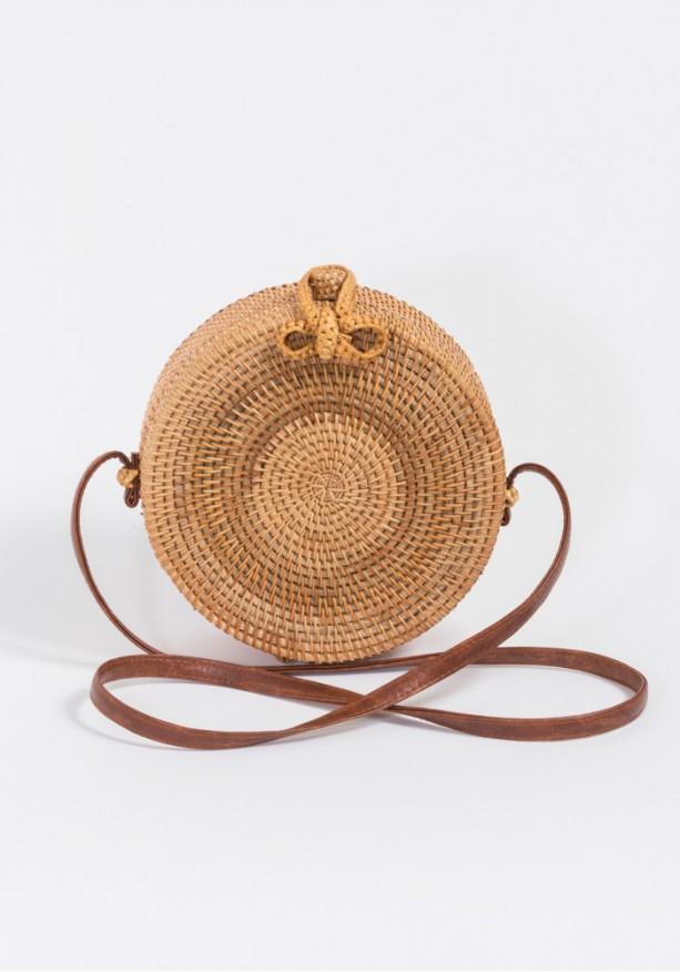 Τσάντα στρογγυλή bamboo