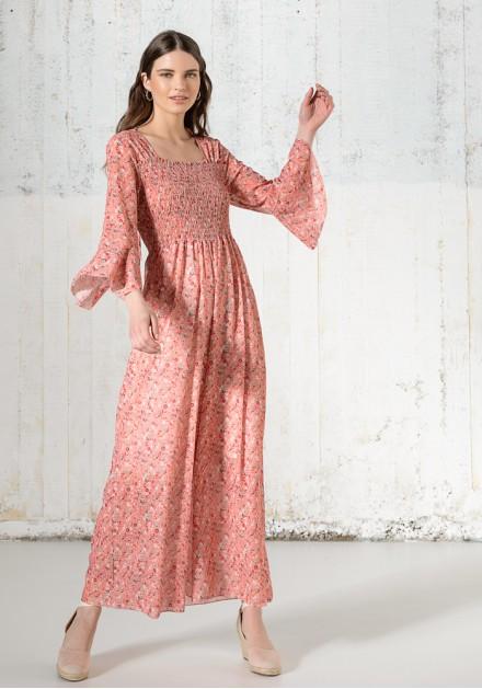 Φόρεμα floral σφιγγοφωλιά