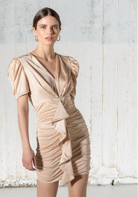 Φόρεμα ελαστικό με βολάν