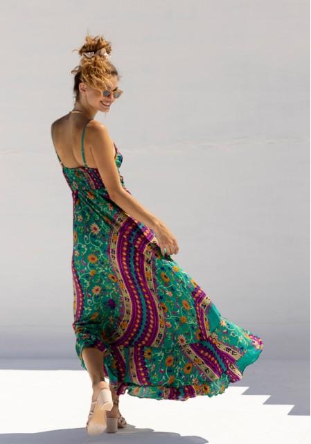 Φόρεμα μεταξωτό maxi
