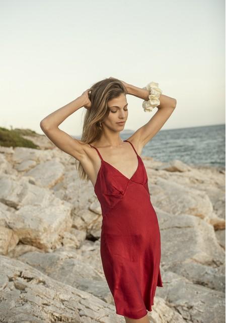 Φόρεμα σατινέ