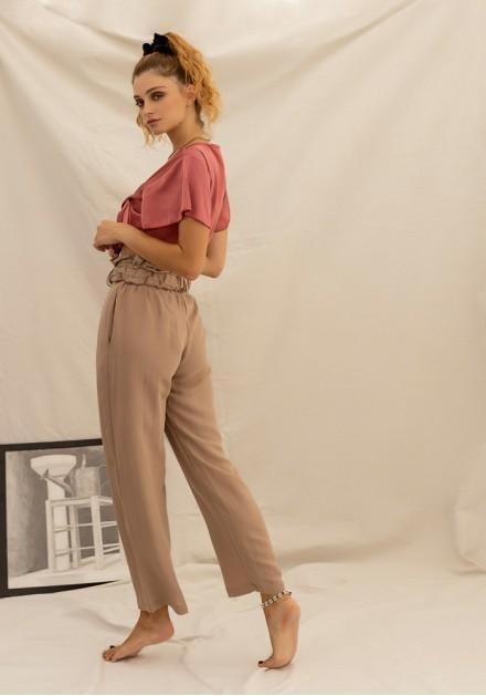 Παντελόνι λινό με ζώνη