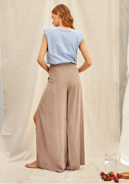 Παντελόνα με δέσιμο & άνοιγμα στα πλαϊνά