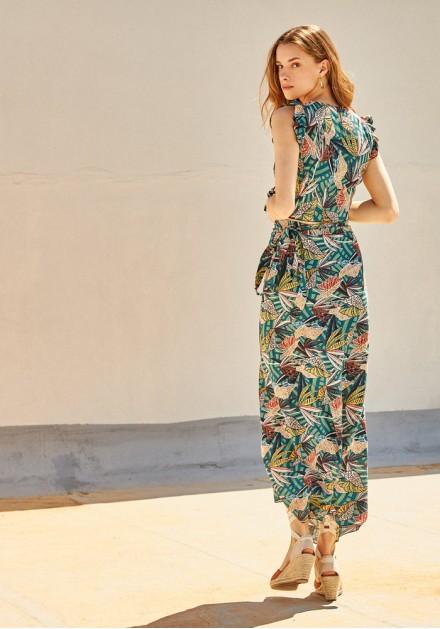 Σετ φούστα με τοπ tropical