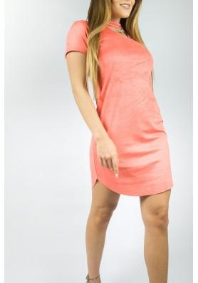 Suede φόρεμα choker