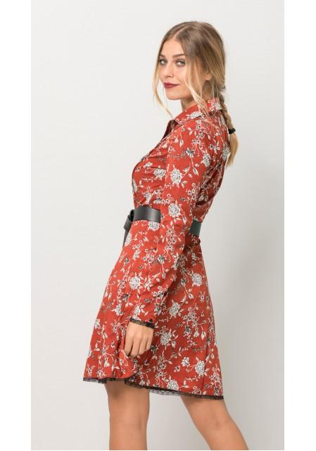 Floral mini φόρεμα