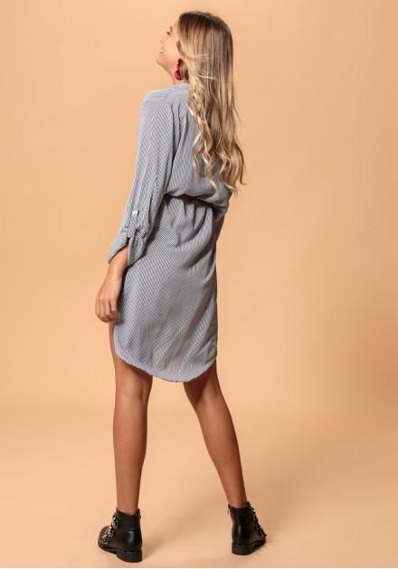Ριγέ αέρινο φόρεμα