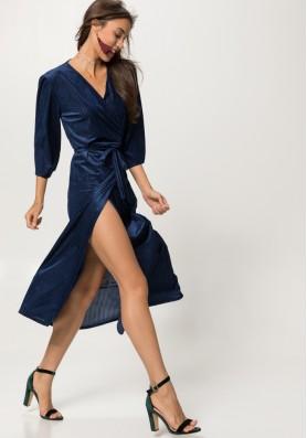 Βελούδινο κρουαζέ φόρεμα
