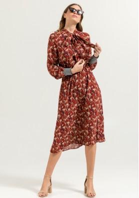 Midi Floral Φόρεμα