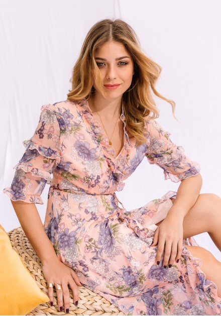 Maxi Floral Φόρεμα