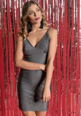 Mini μεταλιζέ φόρεμα