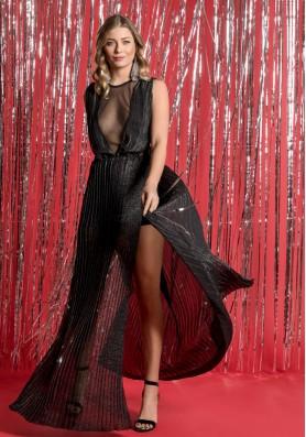 Maxi φόρεμα με σκισίματα