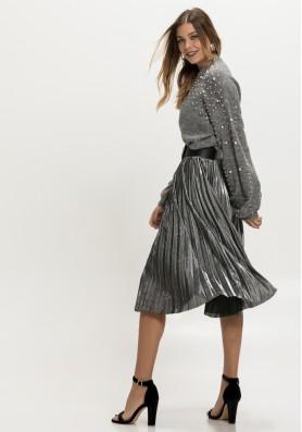Πλισέ μεταλλιζέ φούστα