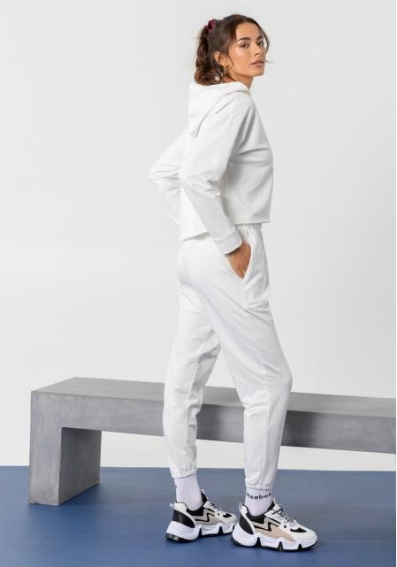 Φούτερ με κουκούλα | Λευκό, Ροζ