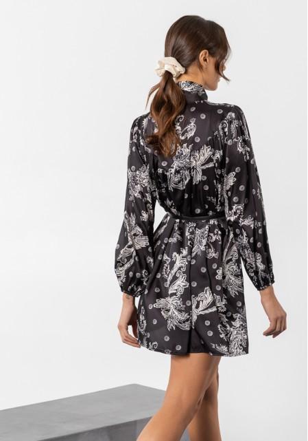 Φόρεμα mini satine