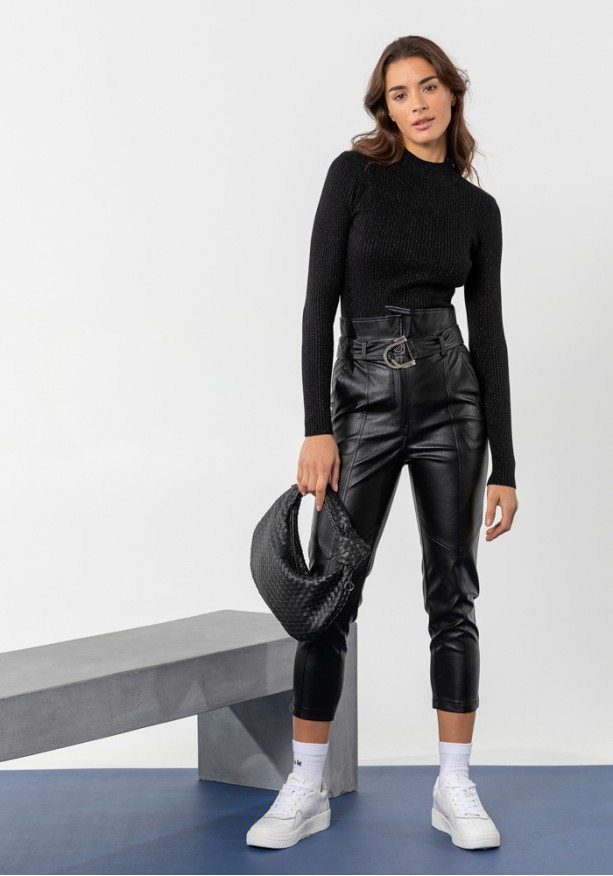 Παντελόνι leather style