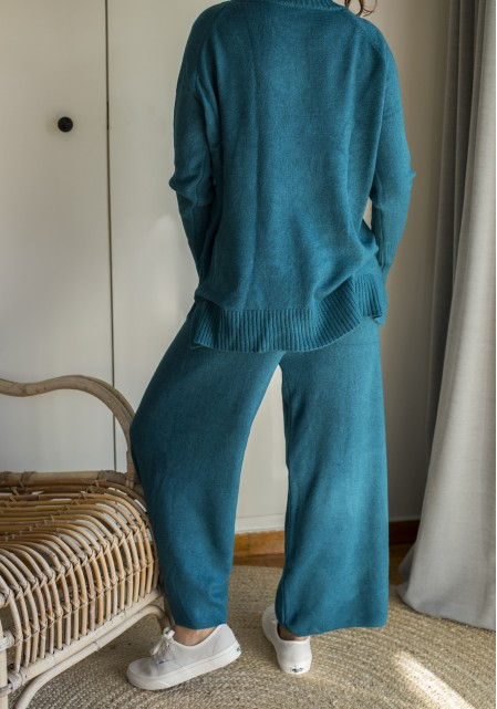 Σετ παντελόνι & μπλούζα άνετη πλεκτό