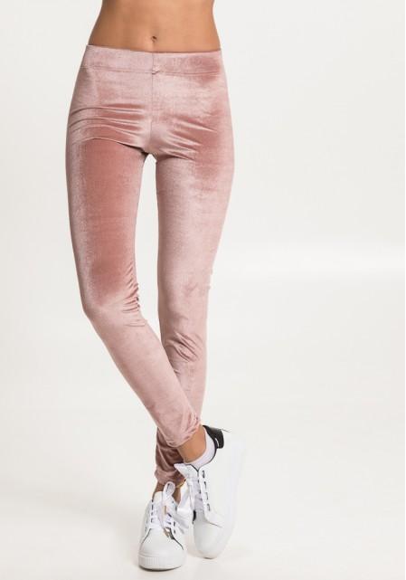 Ροζ velvet κολάν