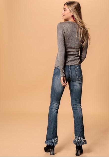 f7c095316d29 Jean παντελόνι με κρόσσια Jean παντελόνι με κρόσσια