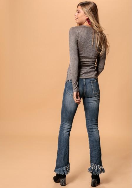 Jean παντελόνι με κρόσσια