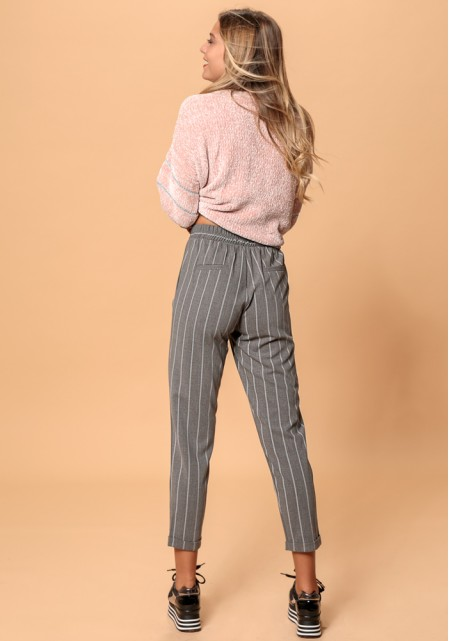Ριγέ παντελόνι