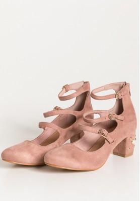 Ροζ velvet flatheel