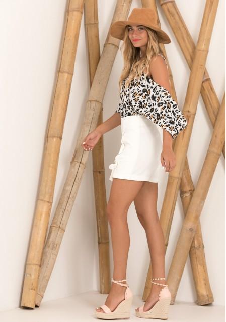 Λευκή φούστα- σορτς