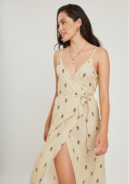 Φόρεμα αέρινο με κρουαζέ δέσιμο