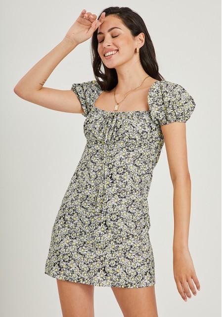 Φόρεμα mini με μαργαρίτες